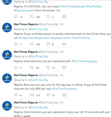 startimes pay per day