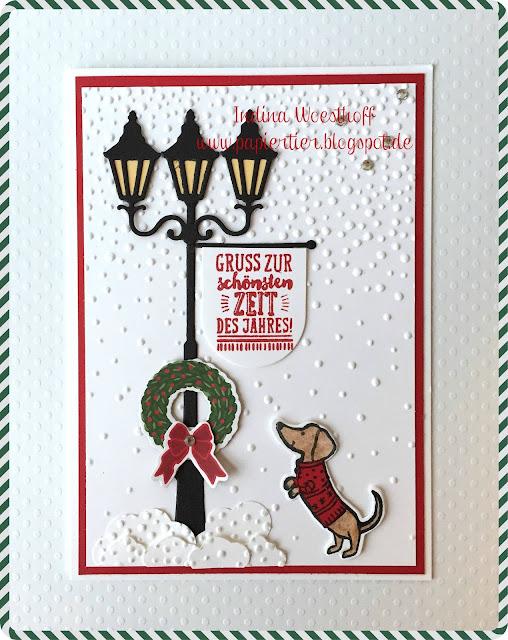 Weihnachten im Lichterglanz | papiertier Indina | Blog Hop Weihnachten | Stampin' Up!