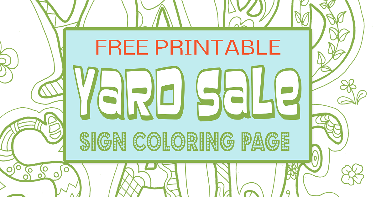 Yard Sale Sign - Free printables