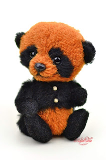 Artist teddy panda, ooak panda bear, Natalie Lachnitt, handmade panda, NatalKa Creations, teddies with charm, Teddys, Teddy Panda, Panda Bär, панда тедди, мишка тедди, ведмежа тедді іграшка