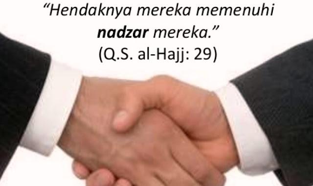 Mengenal Nadzar Dalam Agama Islam