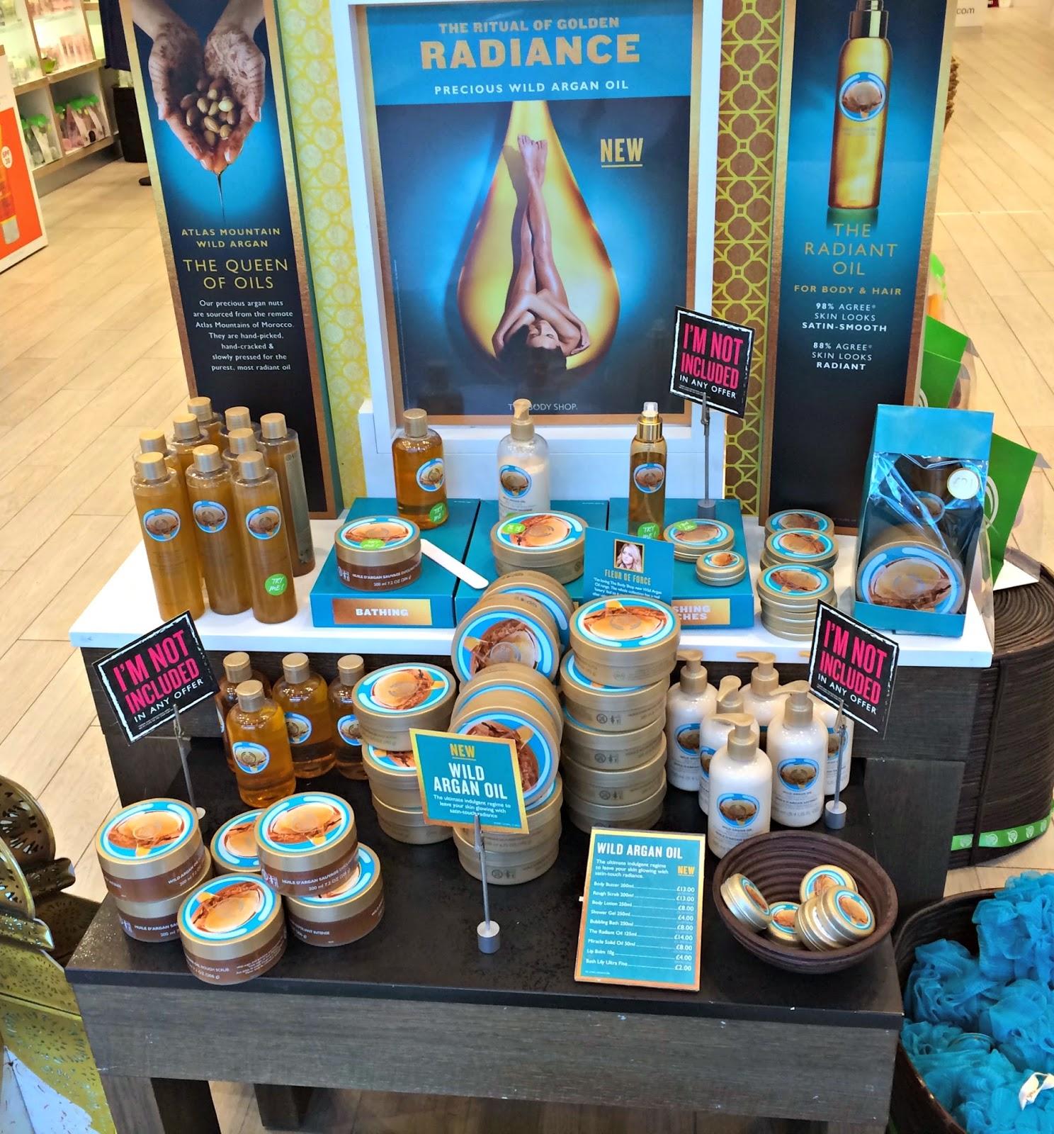 The Body Shop Wild Argan Oil Event