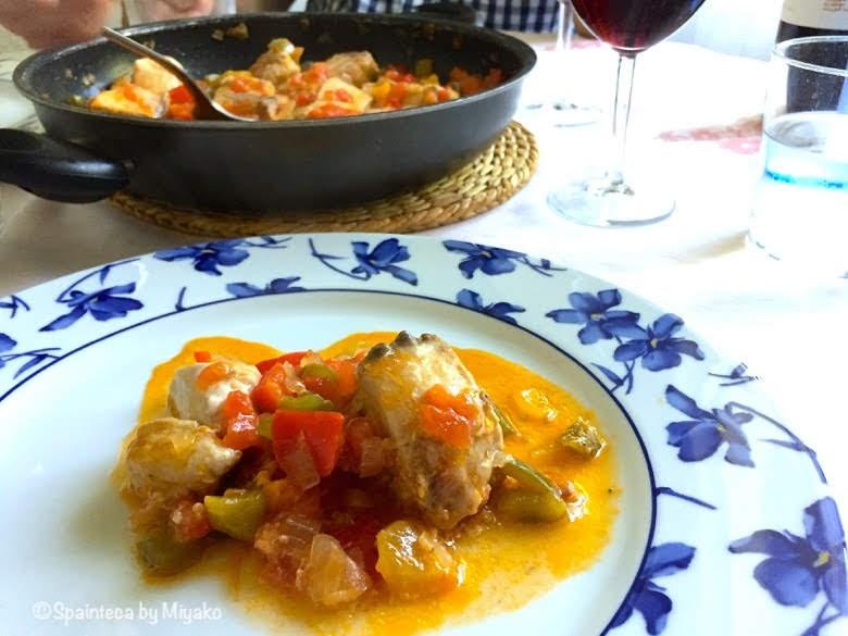 スペインのボニートと野菜の煮込み