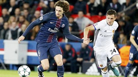 Tiền về chơi hay nhất trận giữ PSG và Basel.