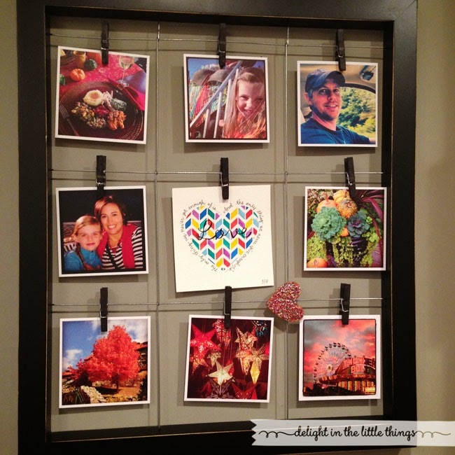 16 Great Ways To Dress Up A Drab Hallway: How To Print And Display Instagram Photos