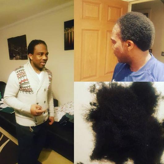 Ogbonna-Kanu-cut-his-braids-for-Laura-Ikeji