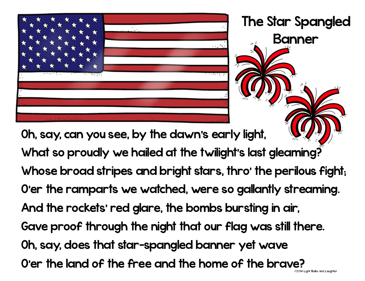 Classroom Freebies Too The Star Spangled Banner S 200th
