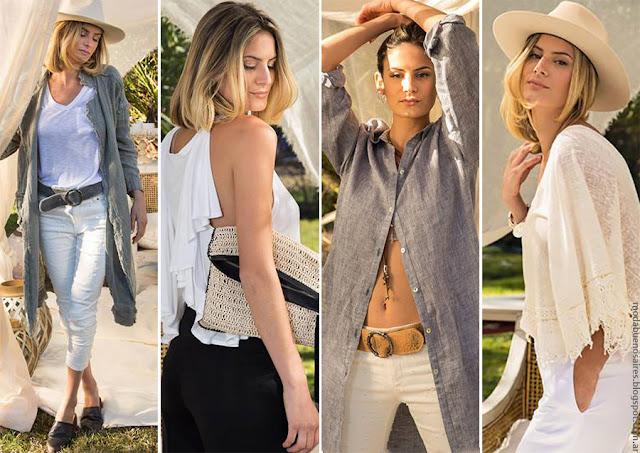 Moda 2017: Moda primavera verano 2017 mujer colección Marcela Pagella vestidos, túnicas, pantalones.