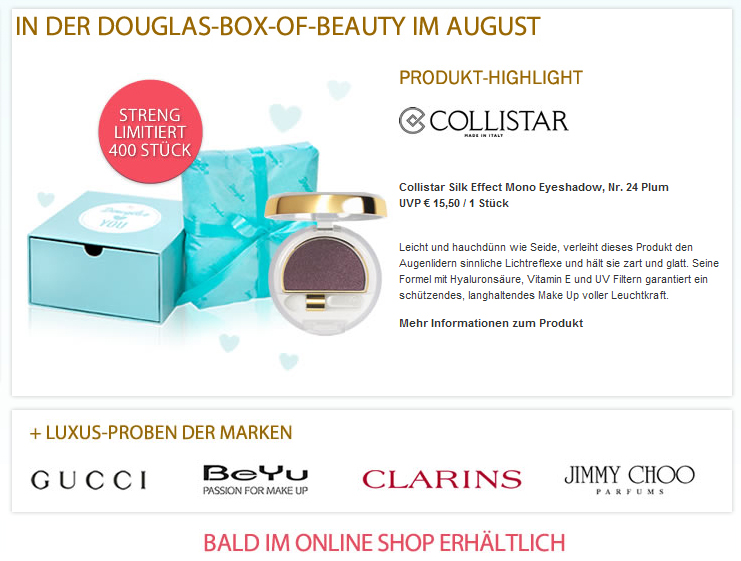 3cdfff013 Minimuffs Beautyblog ♥: Douglas Box of Beauty Österreich | Preview ...