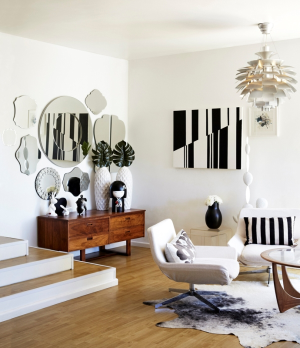 black and white interior chicanddeco blog