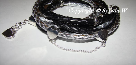 dark heart - silver and black bracelet with heart