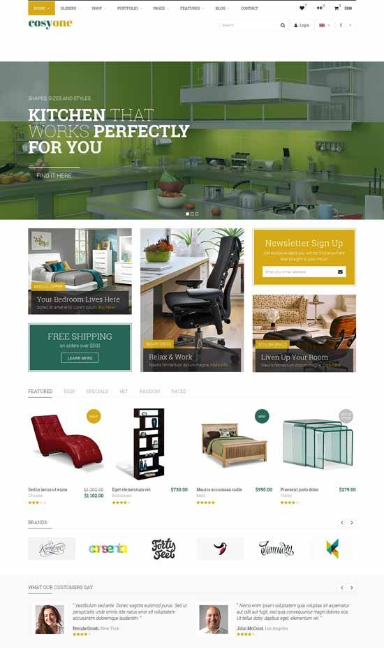 Interior Design Furniture Website Templates 2016