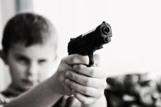 niño, arma, guerra, humanidad