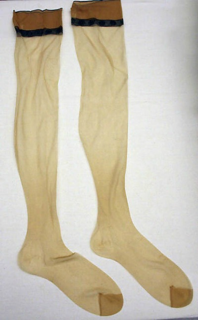 Pair of stockings made by House of Dior Late 1950's Yves Saint Laurent