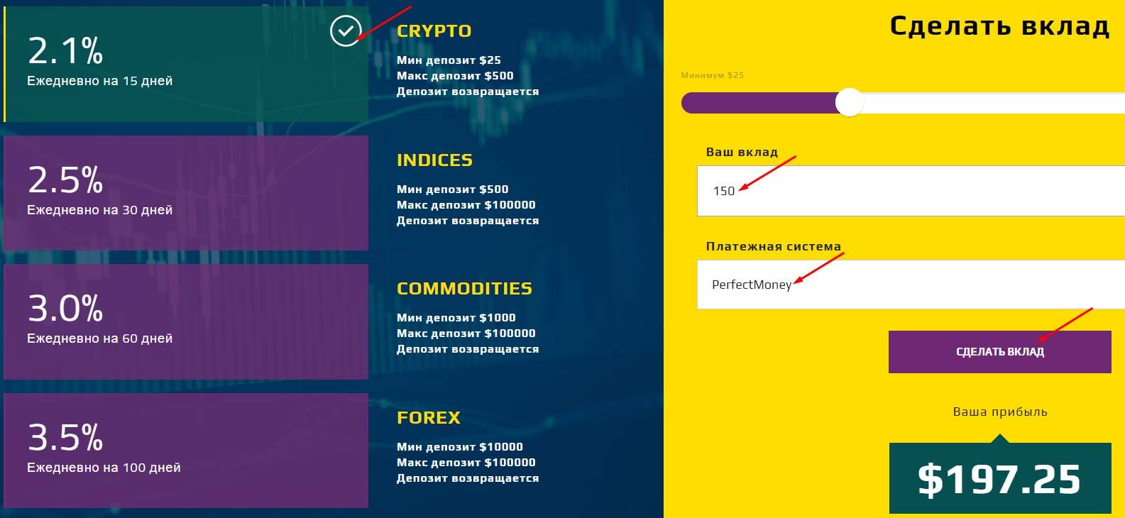 Создание депозита в SmartFounds 2