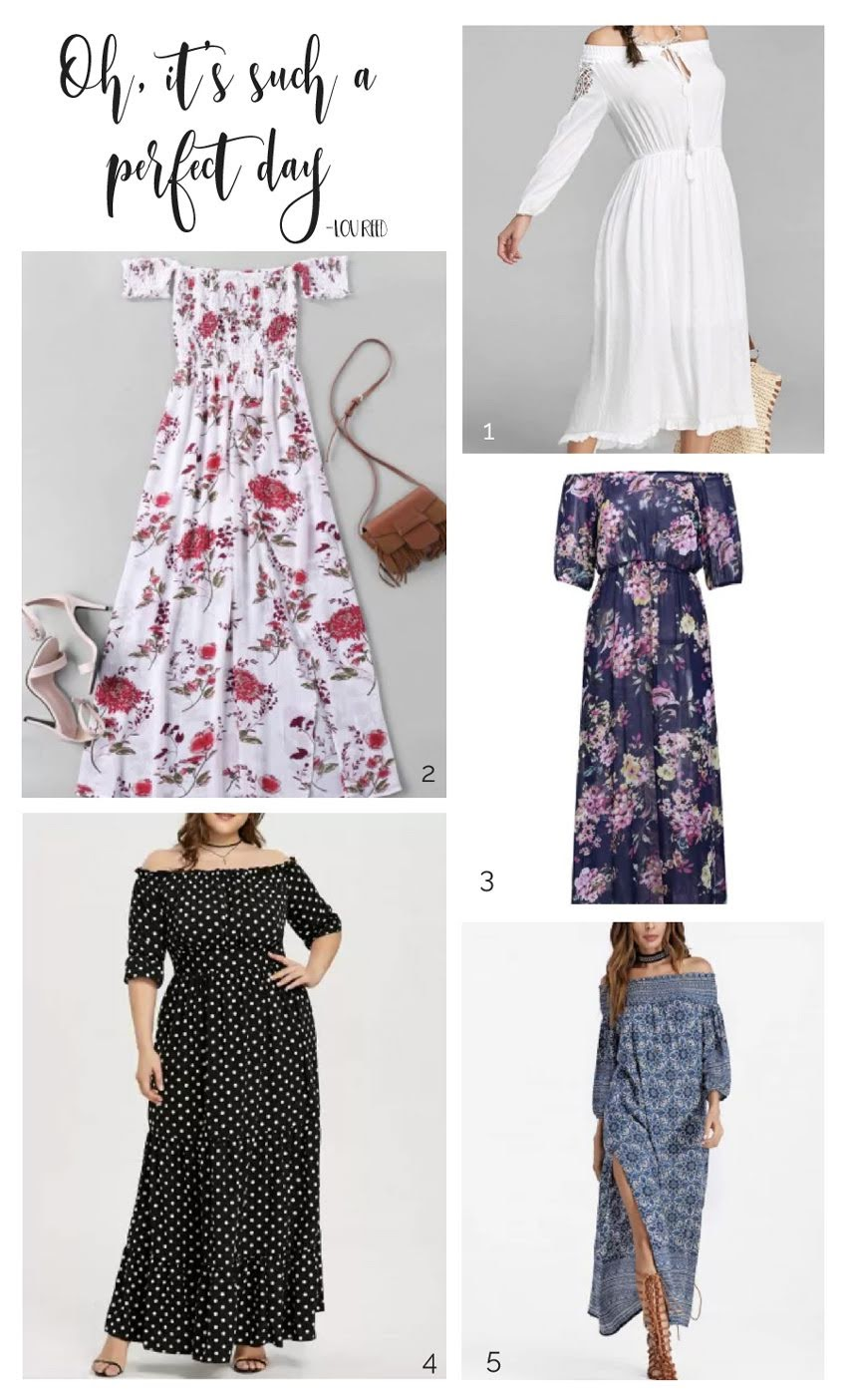 Some long dresses from Rosegal