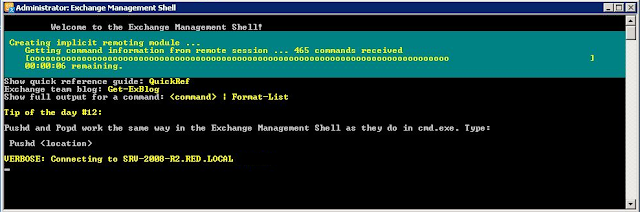 Accederemos a la Exchange Management Shell.