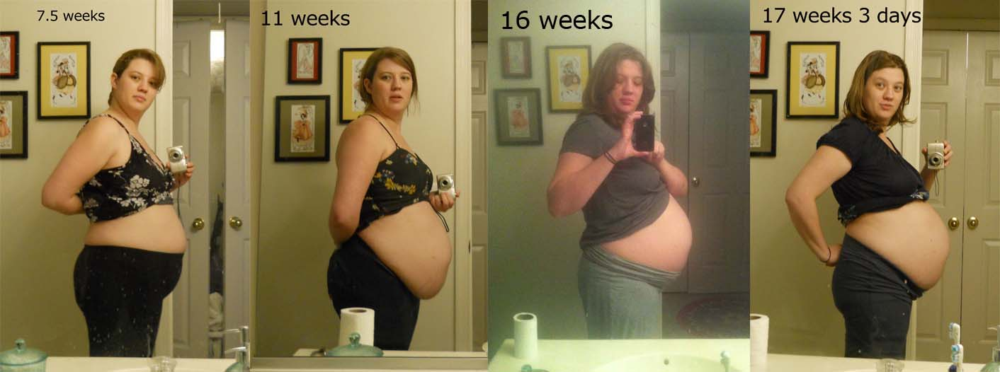 Girl weight gain progression