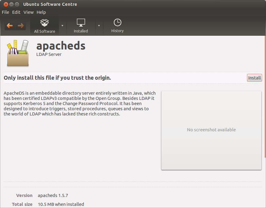 Open design and architecture: Download and Install Apache DS