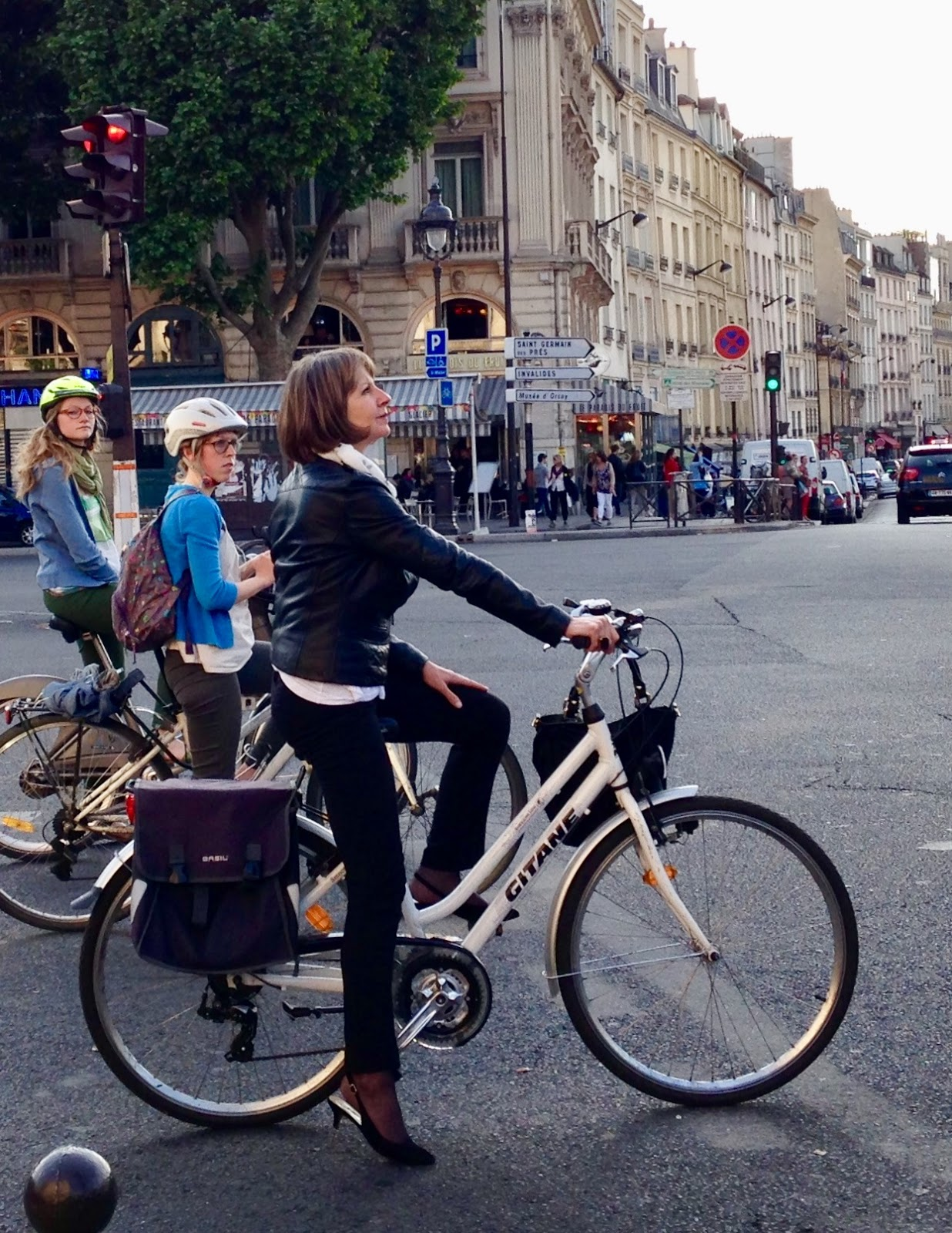 Glamorous cyclists are everywhere in Paris.