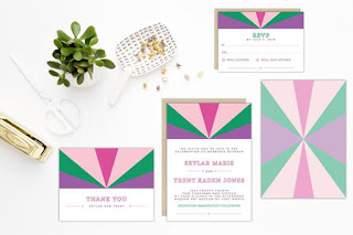 mod wedding invitations from etsy eco-friendly