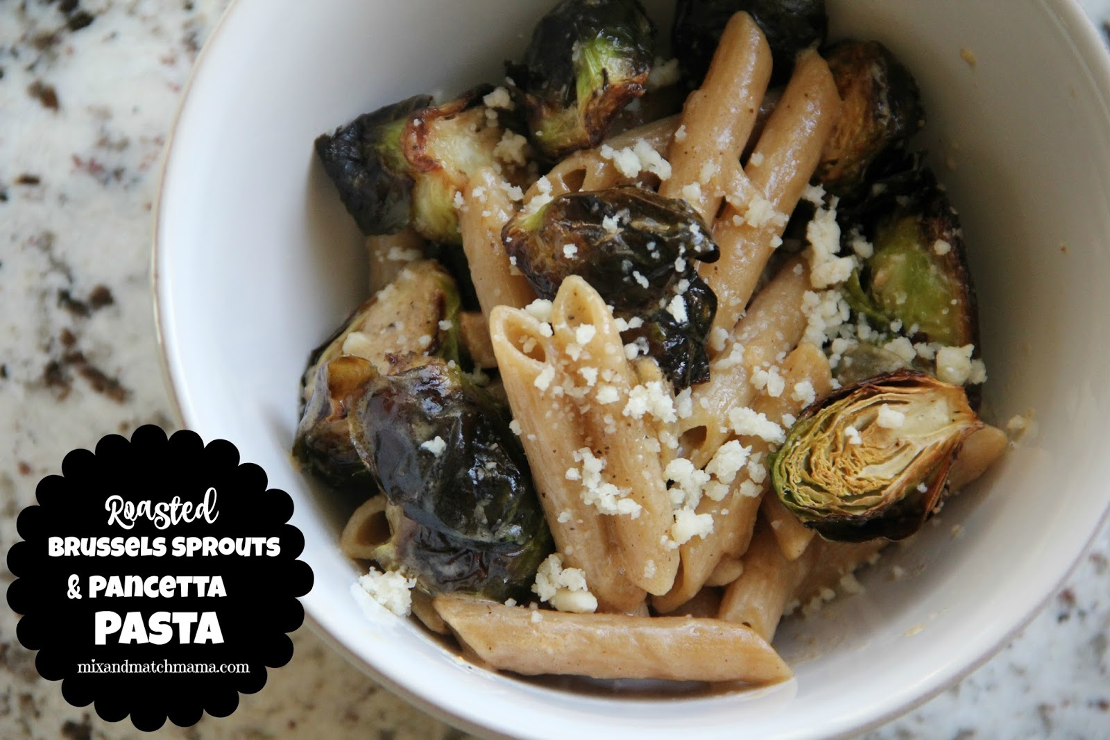 Roasted Brussels Sprouts & Pancetta Pasta hits all the bells and ...