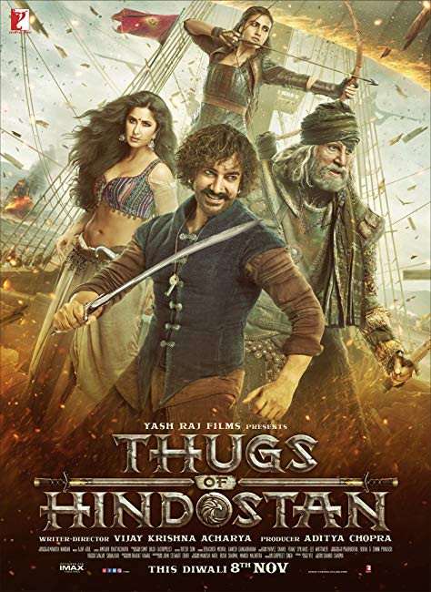 Thugs of Hindostan 2018 Hindi NEW 600MB Pre-DVDRip 720p HEVC x265