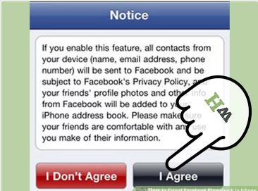 Export Facebook Contacts