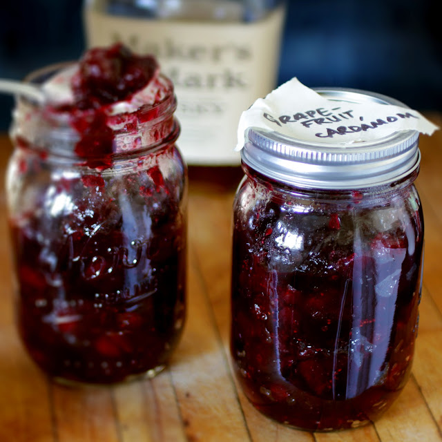 Make ahead cranberry sauce, jarred and ready for Thanksgiving