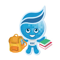 image of Splash with backpack and books in hand.