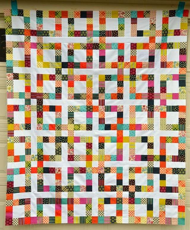 colcha con cuadrados multicolor