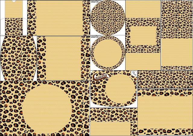 leopard prints  free printable candy bar labels
