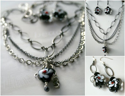 Summer Color Surprise Blog Hop: Victorian Set (chain, lampwork, wire-wrapping) :: All Pretty Things