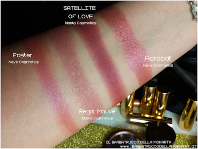 SNOWBERRY comparazioni eyeshadow ombretto  goldust collection Nabla cosmetics