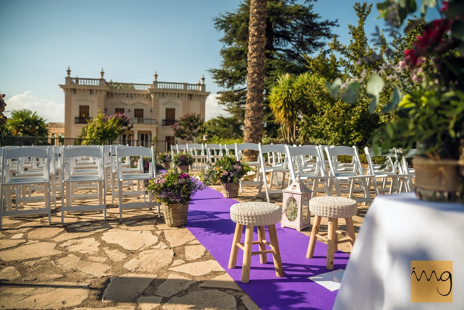 Fotografía del lugar de la ceremonia de la boda