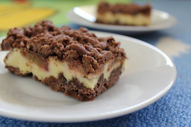 ciasto, kruche, rabarbar
