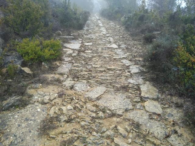 Detall de la via romana