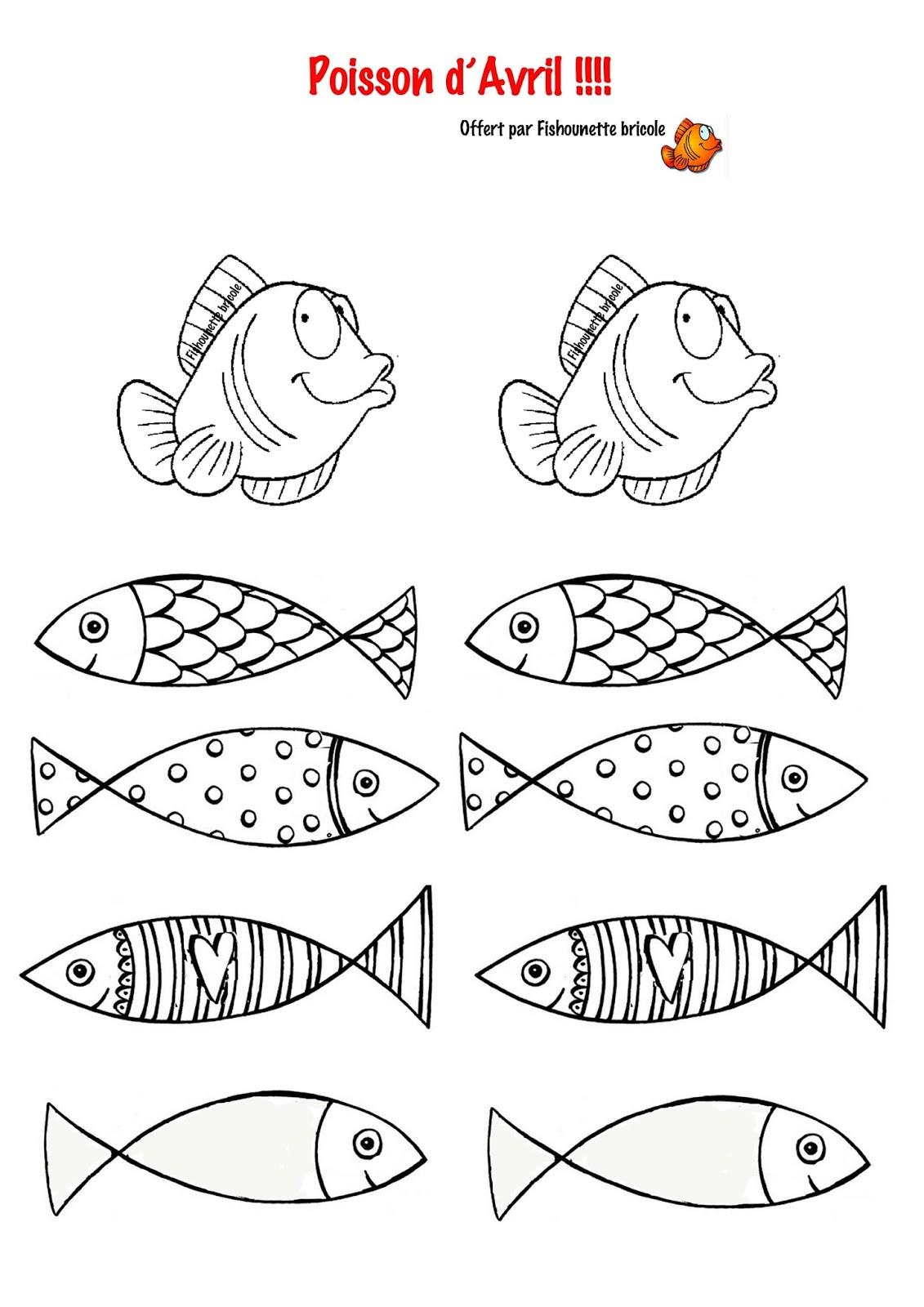 Les Diy De Fishounette Poissons D Avril à Imprimer