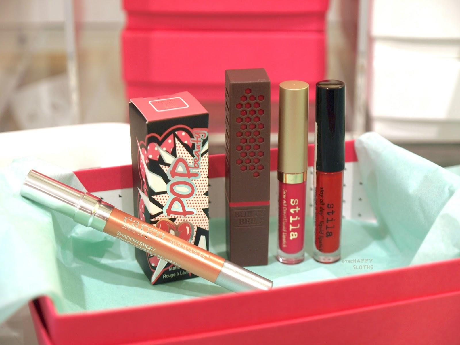 I Chose A Cargo Swimmables Shadow Stick, A Pop Beauty Matte Velvet Lipstick,  A Burtu0027s Bees Lipstick, ...