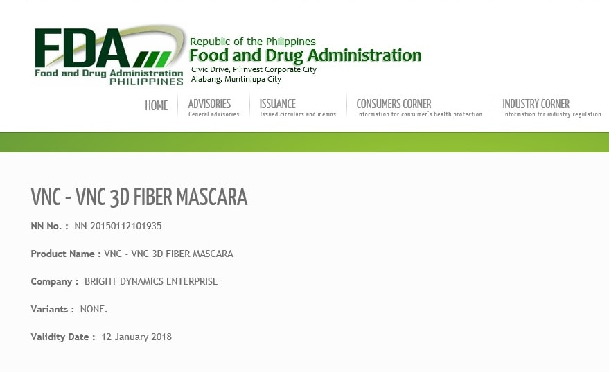 FDA Approval for VNC 3D Fiber Mascara