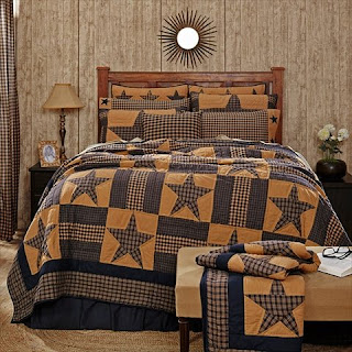 Americana, Primitive, Rustic & Country Star Quilts and