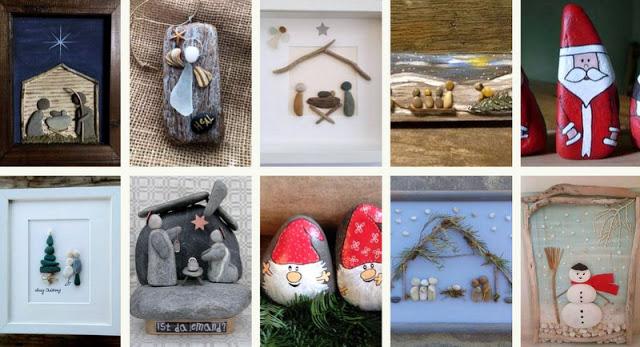 Χριστουγεννιάτικες Κατασκευές με Βότσαλα