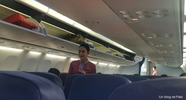 Interior avión compañía Thai Lion malindo air