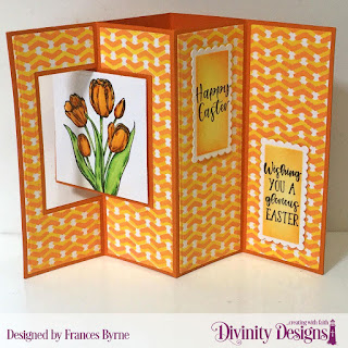 Stamp Set:  Miracle of Easter  Custom Dies: Lever Card, Lever Card Layers, Scalloped Rectangles  Mixed Media Stencil: Arrows