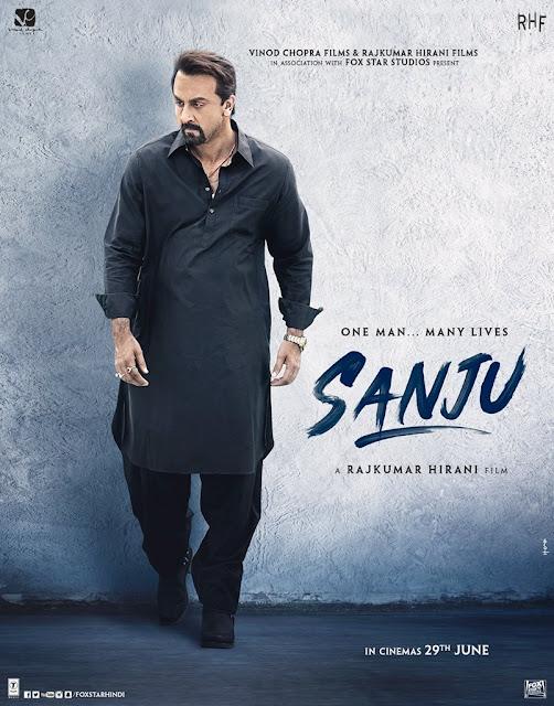 ranbeer as sanjay dutt in sanju movie poster