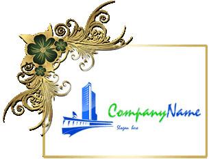 تحميل تصميم شعار برج سكني أمامه كوبري علوي, tower front of bridge psd logo download