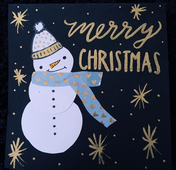 100 cards in 100 days // DAY 97: merry christmas! snowman!