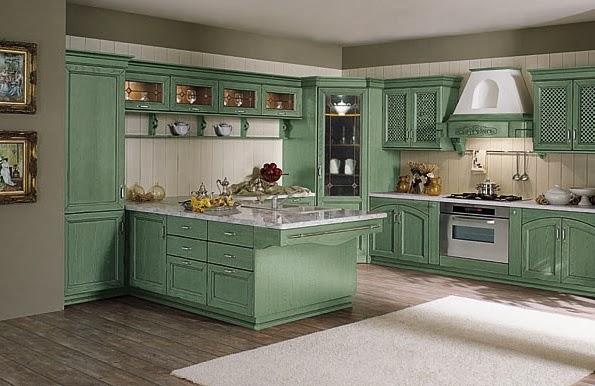 cocinas color verde en estilo cl sico colores en casa