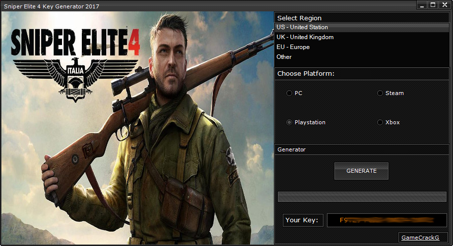 download generator key sniper elite 4
