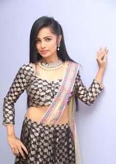 Actress Hashika Dutt Hot Half Saree Photos